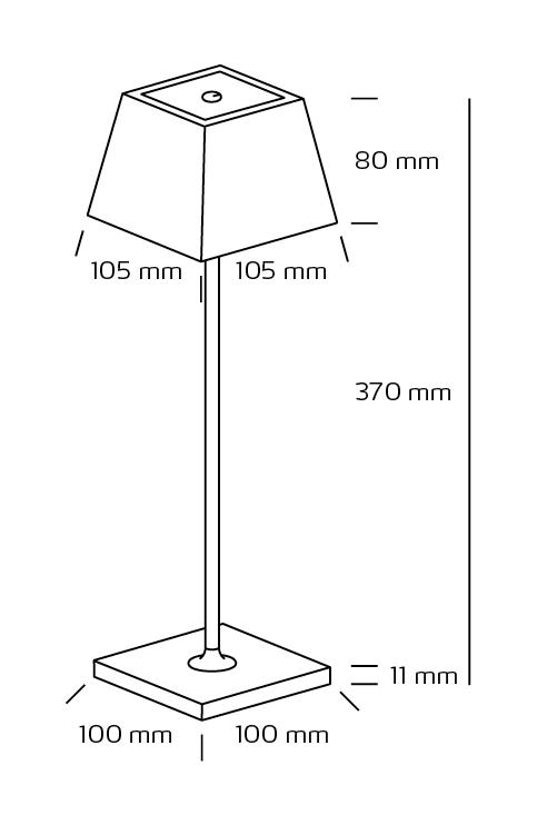 Conexos Sort genial oppladbar dimbar LED lampe til