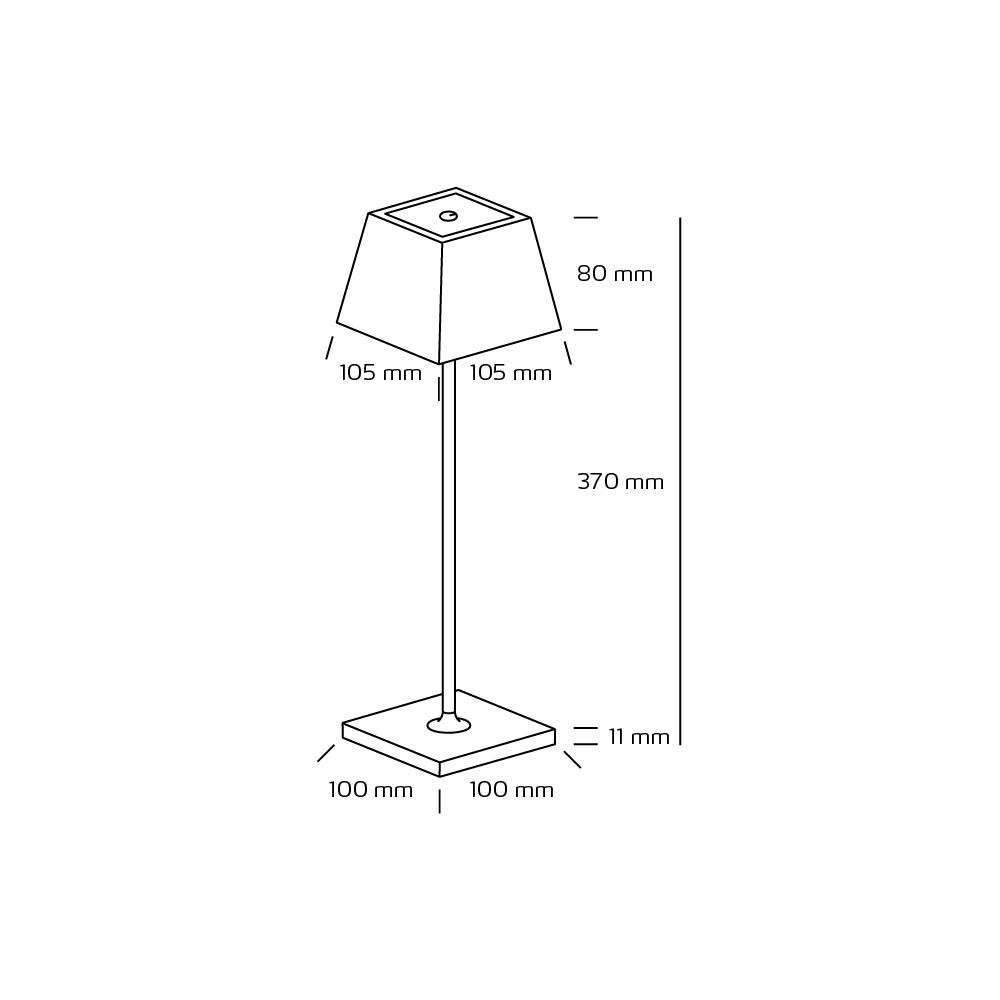 Conexos Hvit genial oppladbar dimbar LED lampe til